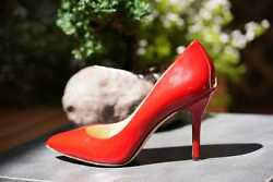 Brian Atwood Red Patent Leather Shoes/ Heels Sz 6.5