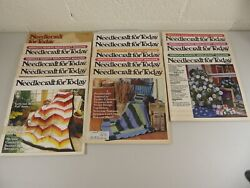 Needlecraft For Today Magazine Vintage Lot Of 13 Very Good Knitting Sewing Quilt