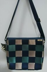 Comely Seatbelt purse Crossbody Blue and Gray NWT $27.00