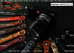 Luigi Handy Wrist Strap To Leica T,premium Leathers, Ss Pin,cm 20+post Included