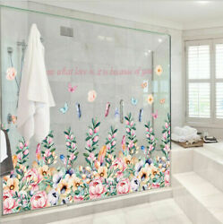 Removable Flowers Compact Group Wall Sticker Mural Wall Decal Home Room Decor EH