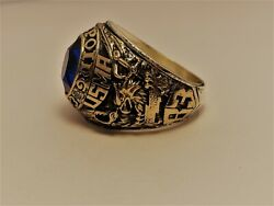 @ Solid 10k Gold Usma Ring Military Academy West Point Ring 1983 Size 14
