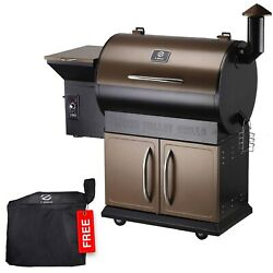 Z Grills Zpg-700d Wood Pellet Grill And Smoker 8 In 1 Bbq Grill 694 Sq In Bronze