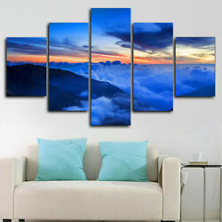 Sky Sunrise Earth 5 Panel Canvas Print Wall Art Poster Home Decoration