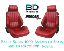Assembled Seats And Brackets For 1963-1979 Nova 80-1000-58 Rally 1000 Series Scat