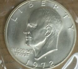 1972-s Eisenhower Uncirculated 40 Silver Dollar Coin M-2730