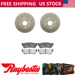 For 2004-2006 Chevrolet Optra Rear Coated Brake Rotors And Ceramic Pads -raybestos