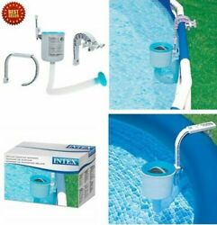 Swimming Pool Wall Mount Surface Skimmer Above Ground Debris Cleaner Basket
