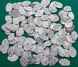 Peter I 1682-1725 Lot 100 Coins Silver Kopek Scales Russian Coin №3