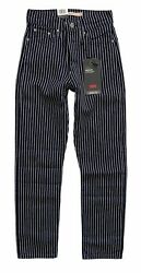 Leviand039s Nwt Womenand039s Wedgie Straight Blue Striped Cropped Jeans 349640110