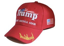 2x President Trump Hats 2024 Save America Again Red