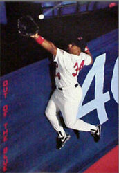 Kirby Puckett 1988 Original Vintage Nike Poster Out Of The Blue Sealed Mint