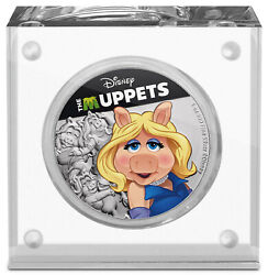 Niue Disney The Muppets Miss Piggy 1oz Silver Medallion In Plastic Display Case