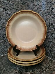 Set Of 4 Mikasa Whole Wheat 8.5 Rim Soup Or Cereal Bowls Tan Brown