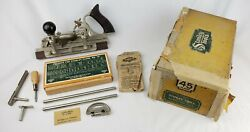 Antique Stanley Model 45 Combination Plow Plane Wood Tool Sweetheart Cutters Box