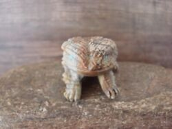 Zuni Pueblo Hand Carved Picasso Marble Horned Lizard Fetish By Tony Mackel