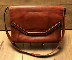 Vintage Theodor Leather Purse With Mirror 12andrdquo X 9andrdquo