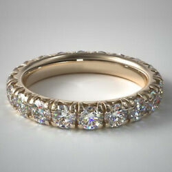 2.50 Ct Real Diamond Engagement Beautiful Ring Solid 14k Yellow Gold Size 5 6 7