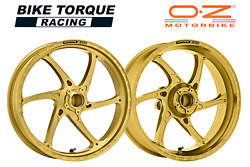 Oz Gass Rs-a Gold Forged Alloy Wheels To Fit Kawasaki Z1000 Abs 10-13