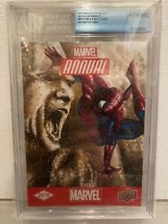 Spider-man Upper Deck Annual Beckett Grading Sketch Card Size 5andtimes7 In