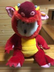 Starbucks Coffee Bearista Dragon Asia Limited 2000 Cafe Red Plush Doll Toy Used