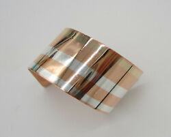 Estate Rare Vintage 1978 And Co Angela Cummings Mixed Metal Cuff Bracelet