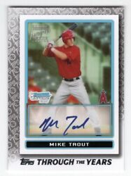 2021 Topps Through The Years Mike Trout 2009 Bowman Chrome Prospect Tty28 D /70