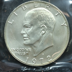1972-s Eisenhower Uncirculated Silver Dollar With Ogp And Coa