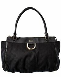 Black Gg Canvas And Leather Abbey Tote Womenand039s