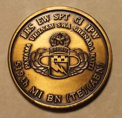 519th Military Intelligence Battalion Airborne Bronze Army Challenge Coin