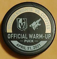 Golden Knights Military Night Warm-up Puck 4-11-2021