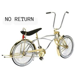 New One Of A Kind 20 Premium Lowrider Twisted Bicycle In Chrome/black.