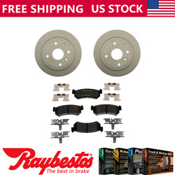 For 2004-2006 Chevrolet Optra Rear Coated Brake Rotors + Ceramic Pads And Hardware