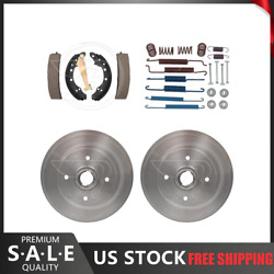 Rear Kit Brake Drums And Brake Shoes Hardware Kit For 1981-1983 Audi Coupe