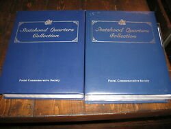 Statehood Quarters Collection Postal Commerative Society Volume 1and2
