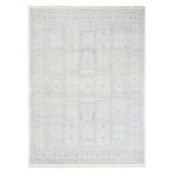 9and039x12and0392 Wool And Plant Base Silk Farsian Design 250 Kpsi Hand Knotted Rug G62246