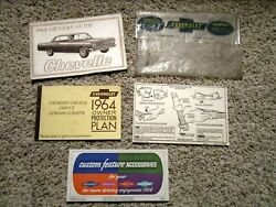1964 Chevelle Ss Factory Gm Original True 45837h Car Complete Owners Manual Set