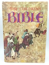 Vintage 1965 Golden The Childrens Bible Hard Cover 16520 Illustrated Stories