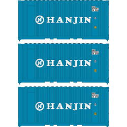 Athearn Ath17700 20' Corrugated Container Hanjin 3 N Scale