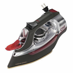 Electric Steam Home Iron With Retractable Cord Ceramic Plated High Performance