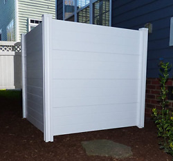 4' Privacy Screen Fence Vinyl Panel Outdoor Fencing Garden Yard White Premium Wh