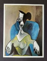 Pablo Picasso Women Sitting In Blue Arm Chair Mounted Offset Lithograph 1964