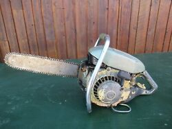 Vintage Pioneer 650 Chainsaw Chain Saw With 16 Bar