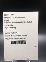 Chase Young 2020 Limited /49 Rookie Patch Auto Variations Silver Spotlight