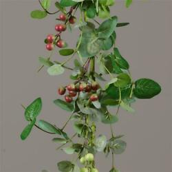 New Country Farmhouse Crab Apple Green Red Berry Cluster Garland Swag Vine