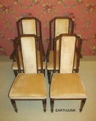 Ethan Allen Classic Manor Upholstered Dining Room Chairs Set Of 4 15 6030