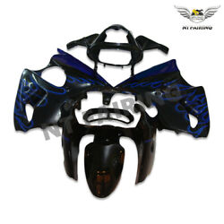 Wo Injection Plastic Fairing Blue Flame Fit For Kawasaki 2000 2002 Zx6r 636 X002