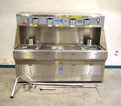 Leatherwood Lpmmc80350797 4tank Solvent Wet Process Cleaner Bench Stainless 7.5'