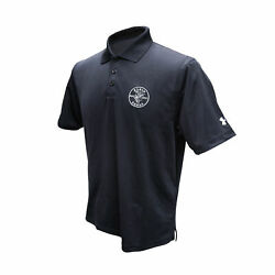 Klein Tools Mba00032-3 X-large Under Armour Mens Corp Black Polo Shirt