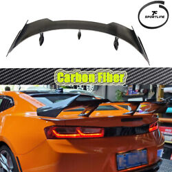 Carbon Fiber Rear Trunk Spoier Boot Wing Fit For Chevrolet Camaro Coupe 2016up